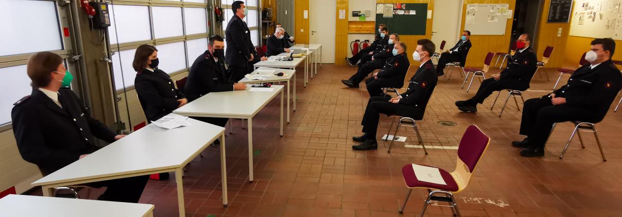 Jahreshauptversammlung Feuerwehr Grötzingen 2021
