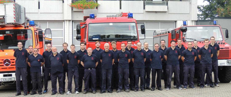 Mannschaftsbild Feuerwehr Grötzingen