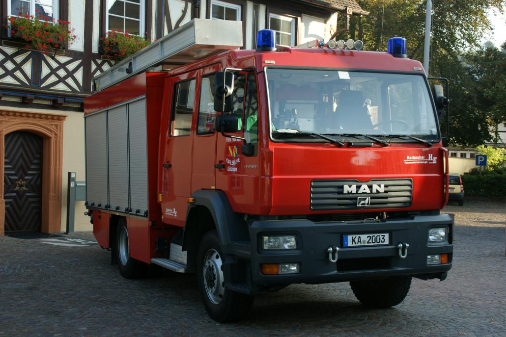 LF 16/12 der Feuerwehr Grötzingen